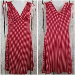 Pinup Couture Anna Dress Polka Dot Red White XXL